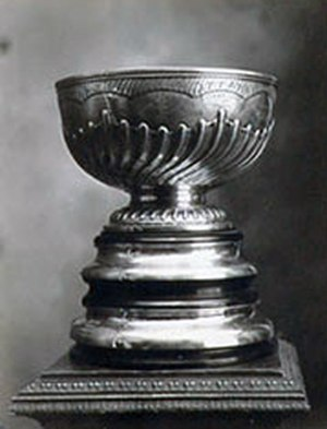 1915 Stanley Cup Finals - The Stanley Cup in 1921. It would have looked the same in 1915.