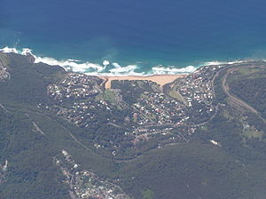 Stanwell Park, New South Wales - Aerial view from the west