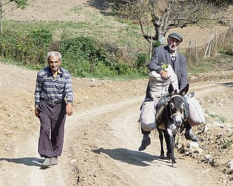 Demographics of the Republic of Artsakh - Men on a dusty road in NKR