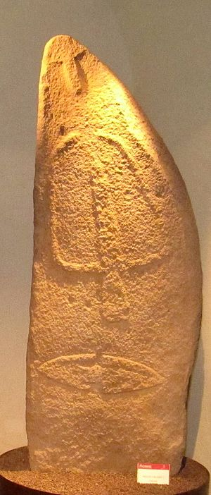 History of Sardinia -  Statue menhir from Laconi