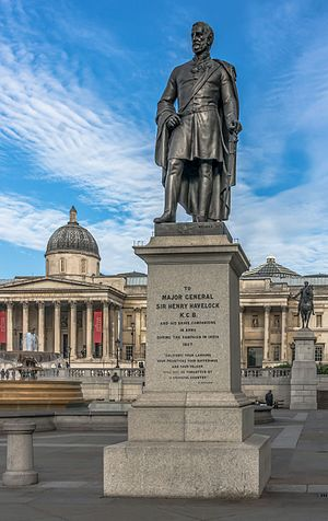 Statue of Henry Havelock, Trafalgar Square - The statue in 2014