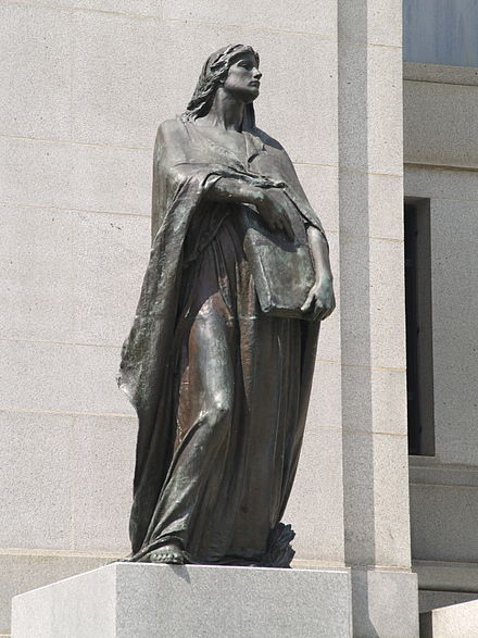 Walter Seymour Allward's Veritas (Truth) outside Supreme Court of Canada, Ottawa, Ontario Canada Statue of Truth.jpg