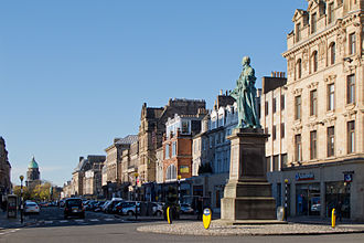 George Street, Edinburgh - View looking west from the statue of William Pitt.
