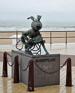 Statue of the Marsupilami in Middelkerke, Belgium (DSCF9899)