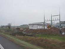 Stavba trafostanice, Průmyslová zóna Písek sever.JPG