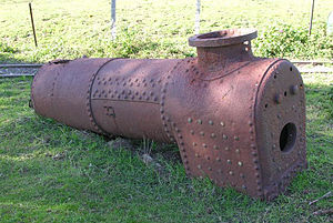 Blenheim Riverside Railway - The original boiler of Donald