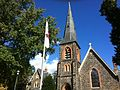 Steeple and Flag of St. John's Protestant Episcopal Church (Baltimore, Maryland) 03.JPG