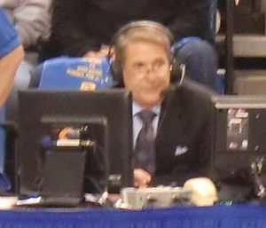 Steve Lappas - Lappas announces the San Diego State–San Jose State basketball game for CBS Sports Network on February 21, 2016 at the Event Center in San Jose.