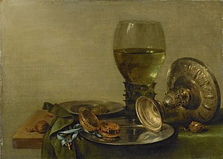 Still life with a silver tazza
