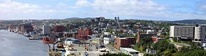 Architecture of St. John's, Newfoundland and Labrador - Downtown St. John's.