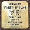 Stolperstein An der Ringmauer 134 Fabisch Heilmann