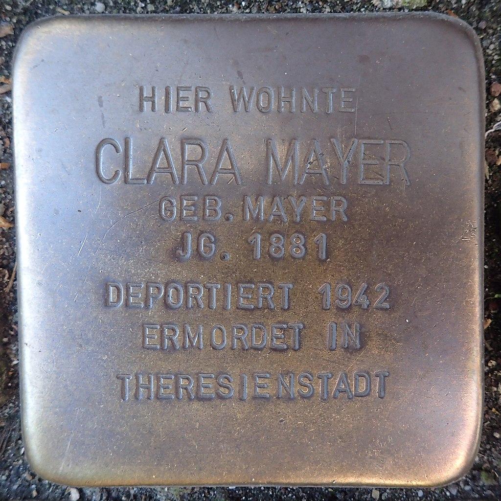 Stolperstein Andernach Kirchgässchen 5 Clara Mayer