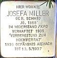 Stolperstein Augsburg Miller Josefa geb Schmid.jpg