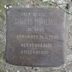 Photo of Sigrid Röhling brass plaque