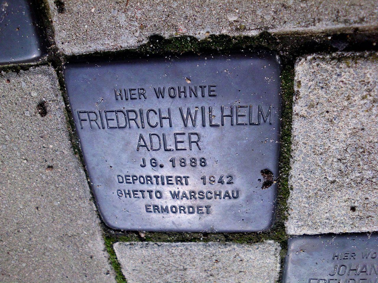 Stolperstein Friedrich Wilhelm Adler.JPG