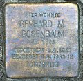 Stolperstein Hektorstr 18 (Halsee) Gerhard M Rosenbaum.jpg