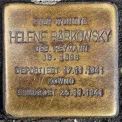 Photo of Helene Barkowsky brass plaque
