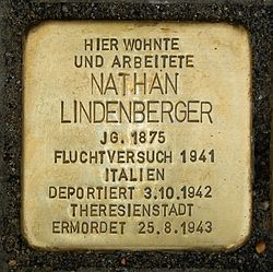 Photo of Nathan Lindenberger brass plaque