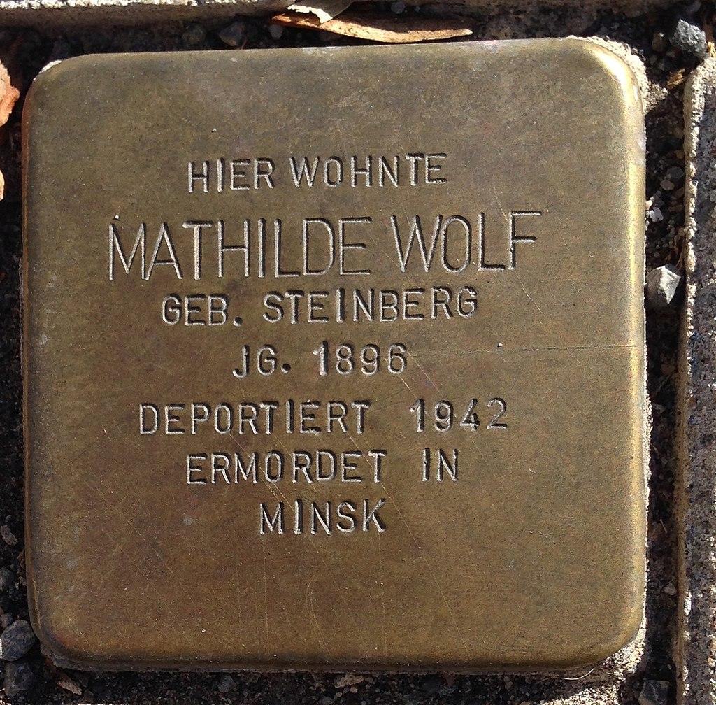 Stolperstein Puderbach Mittelstraße 27 Mathilde Wolf