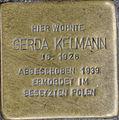 Stolperstein Remscheid Bismarckstraße 60 Gerda Kelmann.jpg