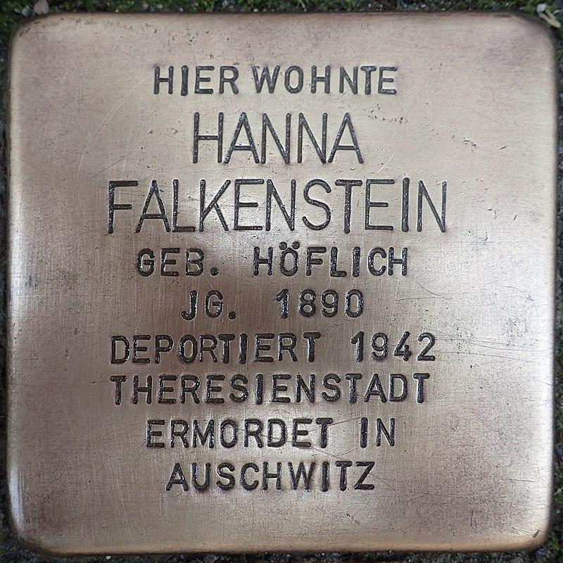 Stolperstein für Hanna Falkenstein geb. Höflich