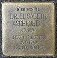 Stolperstein Sächsische Str 44 (Wilmd) Elisabeth Aschenheim.jpg