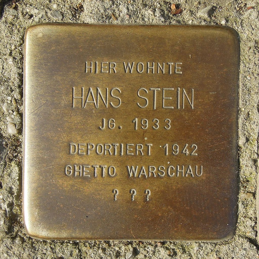 Stolperstein Salzwedel Neuperverstraße 64 Hans Stein