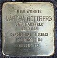 Stolperstein Stierstr 21 (Friedn) Martha Gottberg.jpg