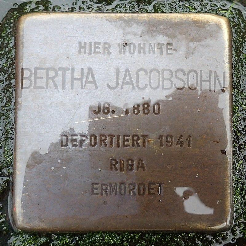 Stolperstein für Bertha Jacobson
