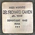 Stolperstein für Dr. Richard Cahen (Köln).jpg