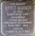 Stumbling block for Alfred Mosbach (Rheinaustraße 18)