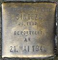 Stumbling block for a Sinteza (Kämmergasse 25)