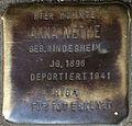 Stumbling block for Anne Nethe (Alteburger Straße 11)