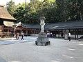 Stone lantern in front of Haiden of Oyamazumi Shrine 2.jpg
