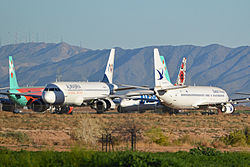 Stored airliners at Goodyear, Arizona (13128728385)