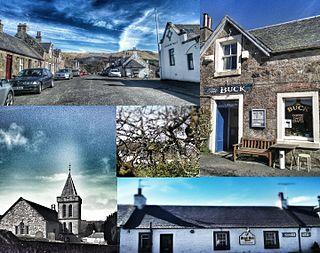 Straiton village in Scotland