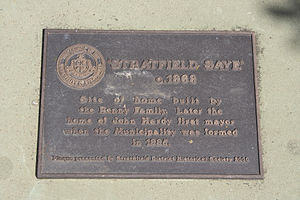 Strathfield, New South Wales - Strathfield Saye plaque