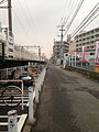 Street view near Kyusandaimae Station 20140130.jpg
