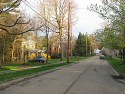 A neighborhood in Patterson Heights