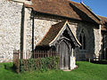 Strethall- St Mary - the porch (geograph 2067122).jpg