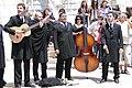 Student Musicians Following Graduation Ceremony - Outside Mosteiro dos Jeronimos - Lisbon, Portugal (4633135793).jpg