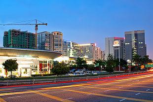 Subang Jaya City Centre at dusk.