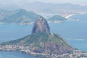 Bornhardt - Sugarloaf Mountain, a non-inselberg bornhardt in Rio de Janeiro, Brazil