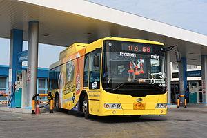 Sunlong Bus - Sunlong SLK6985 CNG bus in Bangkok