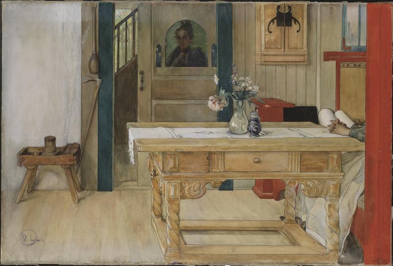 Файл: Воскресный отдых (Карл Ларссон) - Национальный музей - 24318.tif