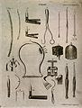 Surgical instruments. Engraving by Andrew Bell. Wellcome V0016377.jpg