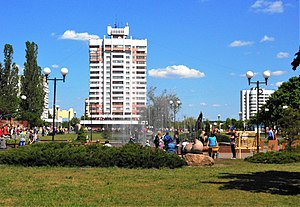 Svietlahorsk - In the center of town.
