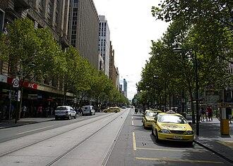 Swanston Street, Melbourne - Swanston Street near City Square