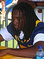 Syd'Quan Thompson at 2009 Cal Fan Appreciation Day 3.JPG