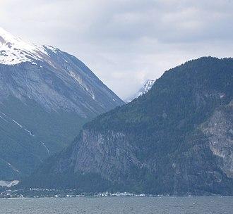 Sylte, Norddal - Village seen across Norddalsfjorden